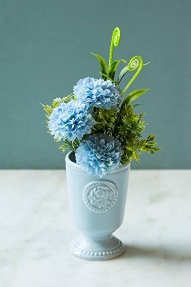 Arma House Arma House Porselen Ilı Yapay Gardenya Çiçeği Mavi
